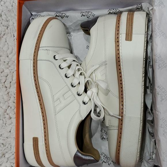 Hermes Shoes   Platform Sneakers Beige